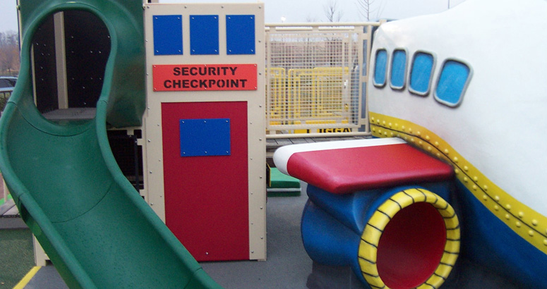 Security Checkpoint Slide at the Airport Play Environment - slideshow version