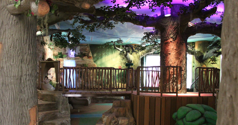 Bridge at the Enchanted Forest in El Paso Childrens Hospital Indoors - slideshow version