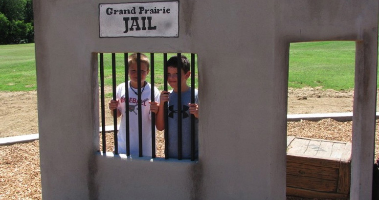 Grand Prairie Jail at Fish Creek Park in Texas - slideshow version