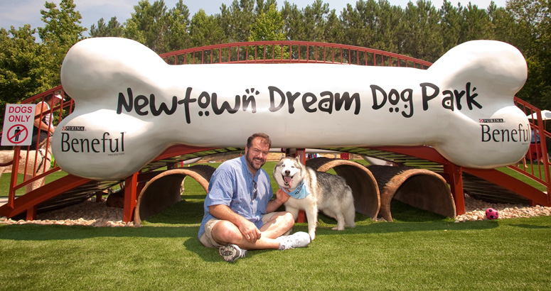 Newtown Dream Dog Park Big Dog Bone - slideshow version