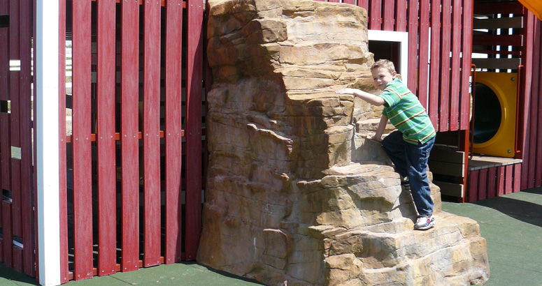 Rock Climber at Rutledge Wilson Farm Barn Park - slideshow version
