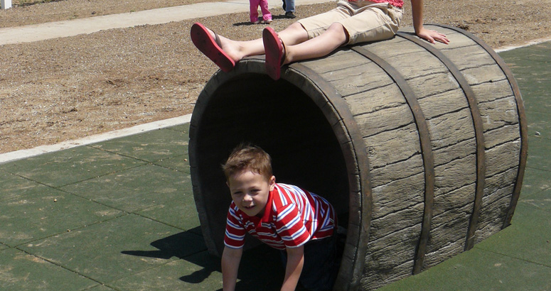 Barrel Crawl at Rutledge Wilson Farm Barn Park - slideshow version