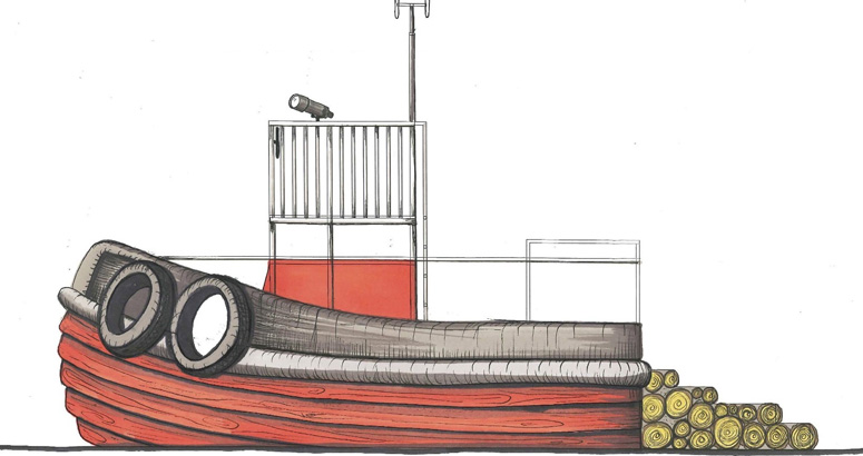 Profile Sketch of the Universally Accessible Tug Boat Park - slideshow version