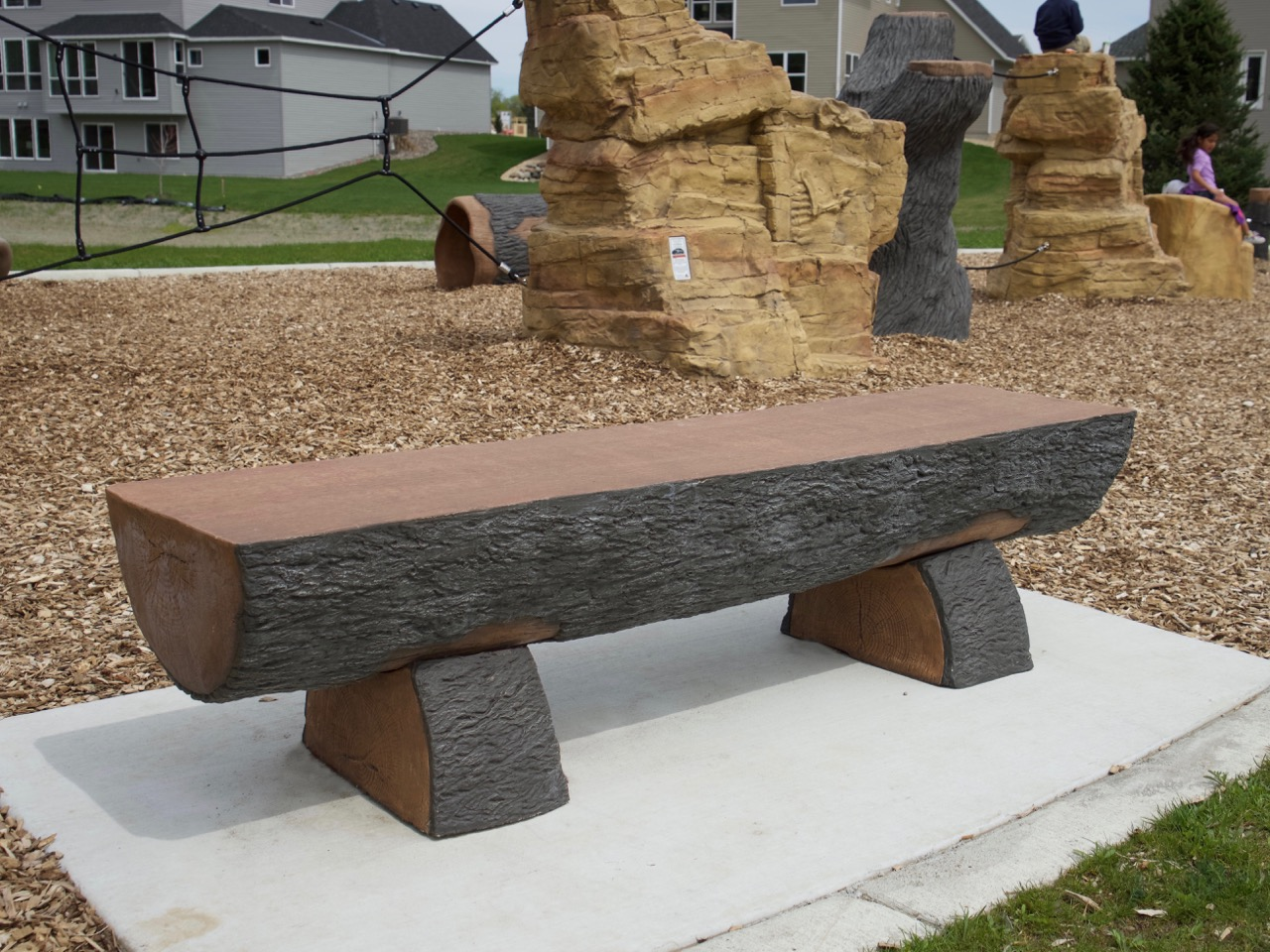 Half Log Bench Cre8play