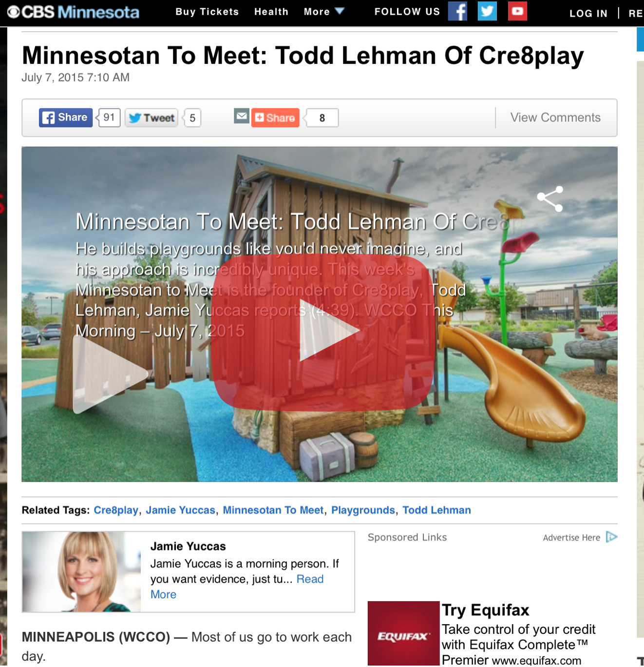 Minnesotan to Meet: Todd Lehman Cre8Play