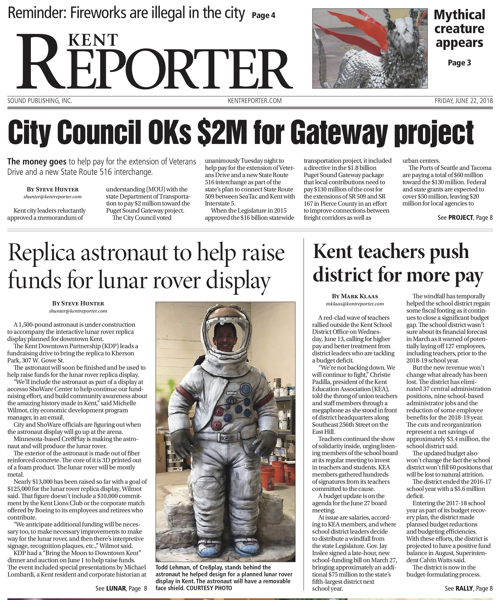 Kent Reporter Cre8Play Astronaut