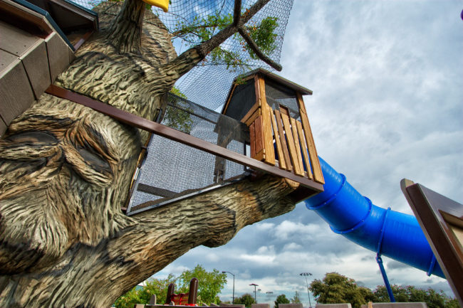 Playground treehouse